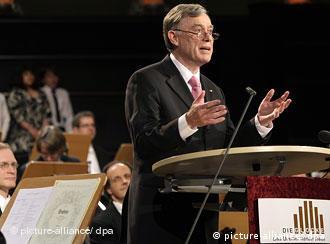 Prezydent Horst Köhler na uroczystości jubileuszu 50-lecia organizacji Aktion Sühnezeichen