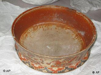 A bowl seized by German police