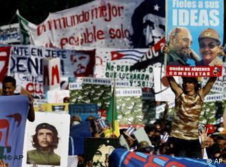 Manifestación del 1 de mayo en La Habana: Raúl consolidó su poder.