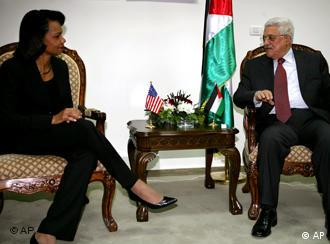 Condoleezza Rice i Mahmoud Abbas