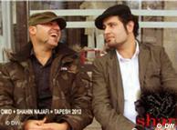 شاهین نجفی (سمت راست) و امید از گروه تپش ۲۰۱۲