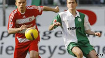 Fussball Bundesliga VfL Wolfsburg Bayern München