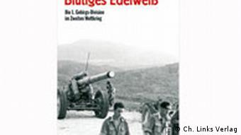 Cover shot of Hermann Frank Meyer's book, Bloodstained Edelweiss. The 1st Mountain-Division in the Second World War (in German)