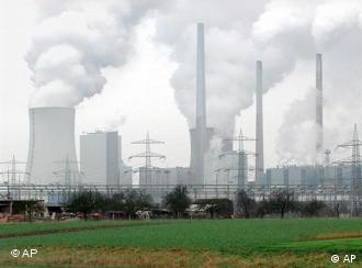 A coal fired power plant in Germany billows smoke