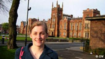 Belfast, Queen's University, Nordirland, April 2008, Anne Pauli, Politikstudentin, Student Council Mitglied