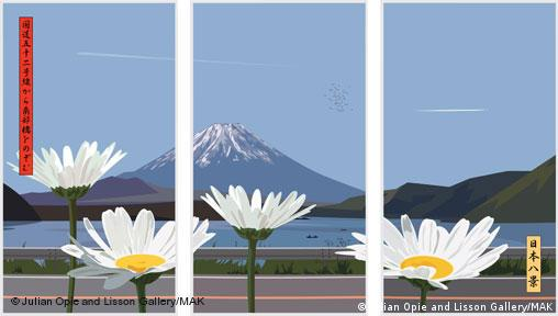 Julian Opie: View of mount Fuji with daisies from route 300, 2007, Quelle: Promo