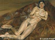 Lucian Freud, Naked Portrait on a Red Sofa, 1989 – 91, oil on canvas, 100.2 x 90.2 cm., Private Collection, © the Artist ***Das Pressebild darf nur in Zusammenhang mit einer Berichterstattung über die Ausstellung verwendet werden***