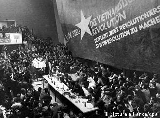 Estudantes em Berlim, em fevereiro de 1968