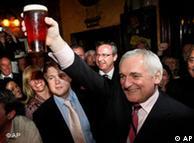 Bertie Ahern enjoys a pint of beer