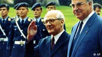 Erich Honecker zu Besuch bei Helmut Kohl 1987