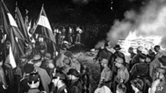 Нацисты сжигают книги