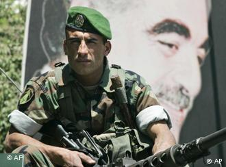 Lebanese soldier in Beirut