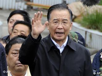 Erdbeben in China, Wen Jiabao spricht zu den Rettungskräften