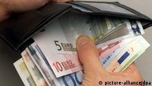 Griff in den Geldbeutel Wirtschaftswachstum