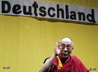 The Dalai Lama ended his five-day trip to Germany on Monday -- he is due to visit Britain