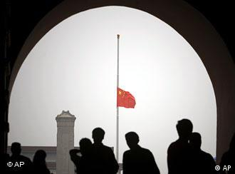 Chinese flag at half mast as nation mourns victims of earthquake