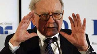US Finanzinvestor Warren Buffett in Frankfurt