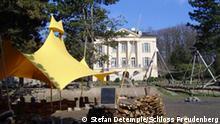 Feuerstelle im Schloss Freudenberg Foto: Stefan Detemple Schloss Freudenberg