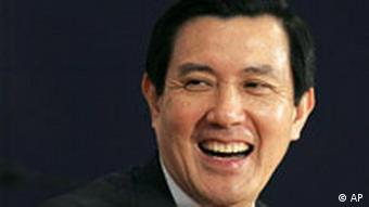 Taiwans Präsident Ma Ying-jeou lacht (Quelle: AP)