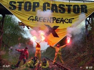 Протест против транспортировки атомных отходов