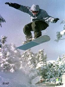 Snowboarder in Killington