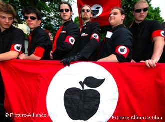 Members of the Apple Front, a group of anti-Nazi demonstrators