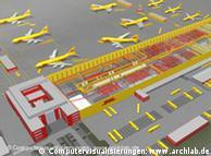 Grafik des Frachtflughafens (Quelle: Deutsche Post World Net)