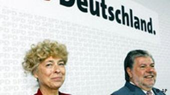 Kurt Beck with Gesine Schwan