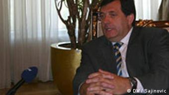 Milorad Dodik Regierungschef Serbien im DW Interview