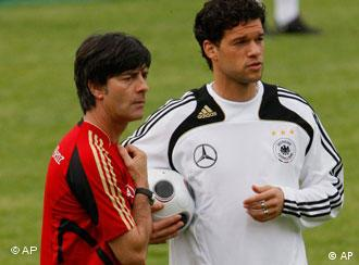 Michael Ballack and Joachim Loew