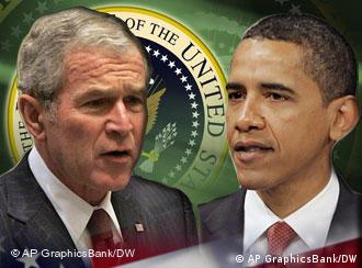 Montage: Bush and Obama