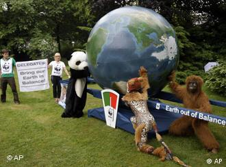 Activists protesting on the margins of the UN biodiversity conference