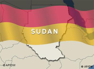 A map of Sudan with a German flag superimposed