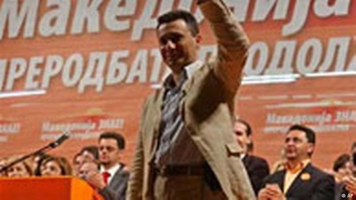 Nikola Gruevski Wahlsieger der VMRO DPMNE Mazedonien Wahl (AP)