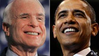 Kombo Wahlen USA John McCain und Barak Obama