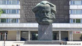 Monument of Karl Marx before the New Saxon Gallery