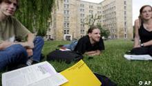 Deutschland Bildung Studiengebühren Studenten Goethe Uni in Frankfurt