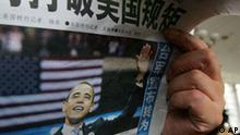 China USA Zeitung zu Barack Obama Reaktionen
