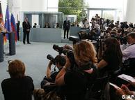 Дмитрий Медведев и Ангела Меркель в Берлине
