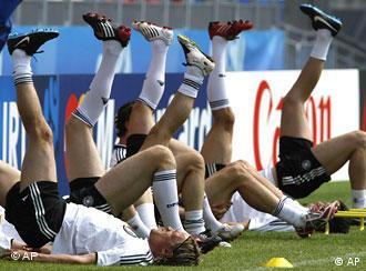 Trening njemačke momčadi