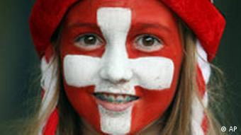 A Swiss soccer fan