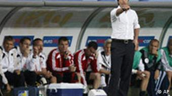 Germany's head coach Joachim Loew gestures during the group B match between Germany and Poland