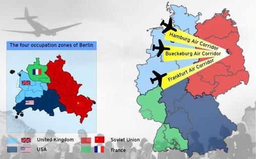 The Berlin Airlift Was Americas Finest Hour Years Ago - Map of divided berlin