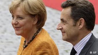 German Chancellor Angela Merkek with French President Nicolas Sarkozy