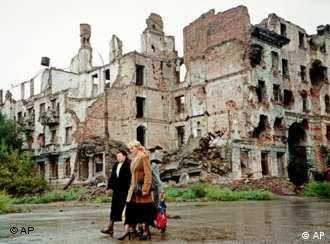 The Chechen capital of Grozny lies in ruins