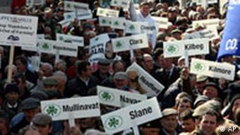 Irish Farmers protest