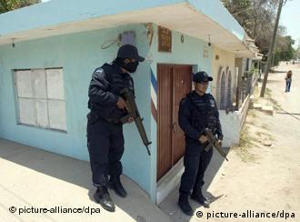 Polizeieinsatz in Culiacan, Sinaloa, (Archiv 2008, ap)