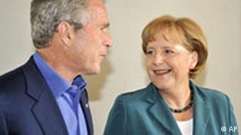 Bush and Merkel