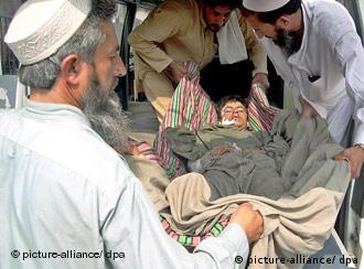 A Pakistani man injured by a US air strike in Mohmand Agency
