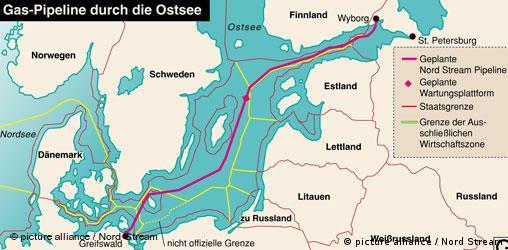 Grafik Ostsee-Pipeline